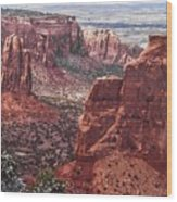 Independence Monument At Colorado National Monument Wood Print