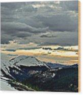 Independence Pass Sunset Wood Print