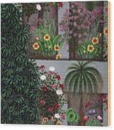 India: Garden Wood Print
