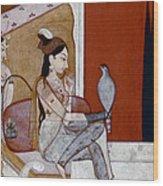 India: Lady & Hawk, C1570 Wood Print