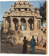 India Mahabalipuram  Wood Print
