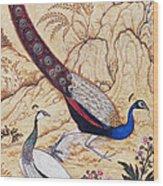 India: Peafowl, C1610 Wood Print