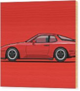 India Red 1986 P 944 951 Turbo Wood Print