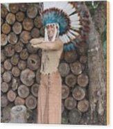 Indian 020 Wood Print