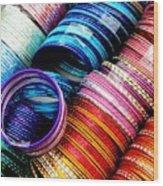 Indian Bangles Wood Print by Elizabeth Hoskinson