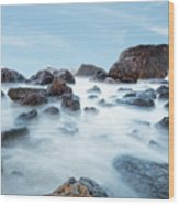 Indian Beach At Ecola State Park, Oregon  Wood Print