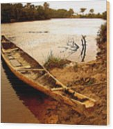 Indian Boat Wood Print