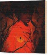 Indian Boy Wood Print