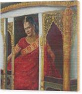 Indian Bride Wood Print