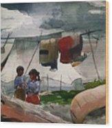 Indian Camp - Roberval P Q Wood Print