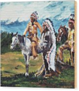 Indian Chiefs Wood Print