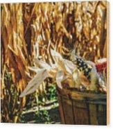 Indian Corn Wood Print
