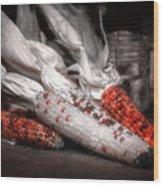 Indian Corn Still Life Wood Print