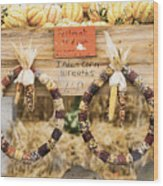 Indian Corn Wreaths Wood Print