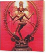 Indian Deity Wood Print