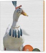 Indian Duck Wood Print