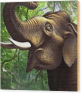 Indian Elephant 1 Wood Print