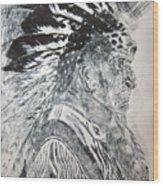 Indian Etching Print Wood Print