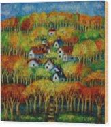 Indian Fall No 1. Wood Print