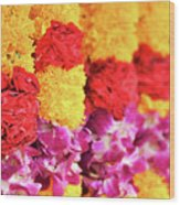 Indian Flower Garland Wood Print