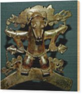 Indian Gold Wood Print