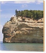 Indian Head Rock Wood Print