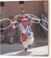 Indian Hoop Dancer Wood Print