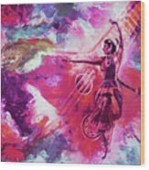 Indian Kathak Dance 87y Wood Print