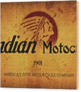 Indian Motocycle 1901 - America's First Motorcycle Company Wood Print