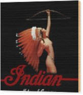 Indian Motorcycle Company Wood Print