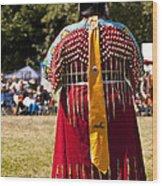 Indian Nation Pow Wow Dancers Wood Print