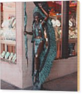 Indian On The Square Sante Fe Nm Wood Print