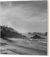 Indian Point Beach - Oregon Coast Wood Print