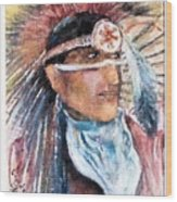 Indian Portrait Wood Print