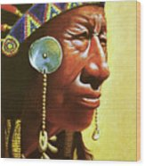 Indian Portrait Wood Print by Martin Howard