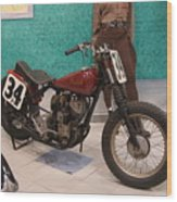 Indian Racing Motorcycle 34 Wood Print