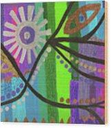 Indian Rainbow Dance Wood Print