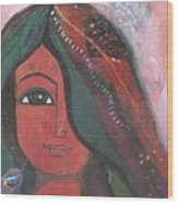 Indian Rajasthani Woman Wood Print
