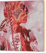 Indian Red Wood Print