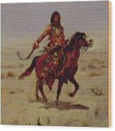 Indian Rider Wood Print