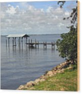 Indian River In Indialantic Florida Wood Print