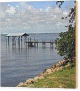 Indian River In Indialantic Florida Wood Print