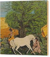 Indian Romance Wood Print