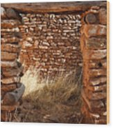 Indian Ruins Doorway Wood Print