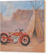 Indian Scout Wood Print