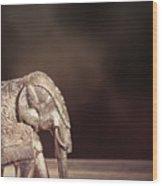 Indian Silver Elephant Wood Print
