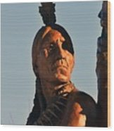 Indian Statue Wood Print