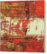 Indian Summer - Red Contemporary Abstract Wood Print