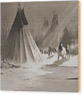 Indian Tee Pee Wood Print