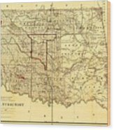 Indian Territory Wood Print by Pg Reproductions